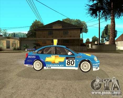Chevrolet Lacetti WTCC para la visión correcta GTA San Andreas