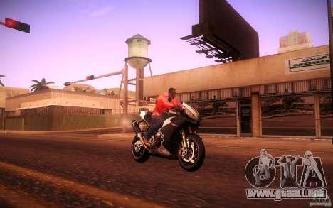 Aprilia RSV-4 Black Edition para la visión correcta GTA San Andreas