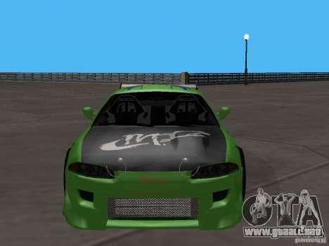 Mitsubishi Eclipse Tunable para GTA San Andreas vista posterior izquierda