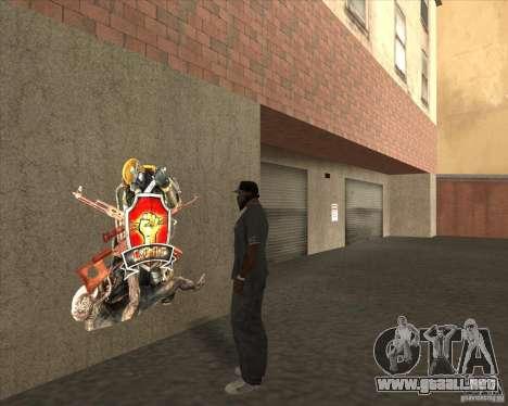 Graffiti stalkers para GTA San Andreas segunda pantalla