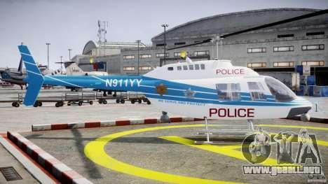 Bell 206 B - Chicago Police Helicopter para GTA 4 vista interior
