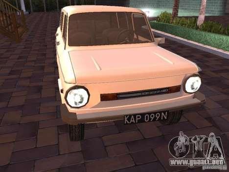 ZAZ 968 m Limousine para GTA San Andreas left
