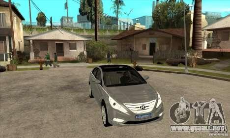 Hyundai Sonata 2011 para GTA San Andreas vista hacia atrás