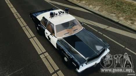 Dodge Monaco 1974 Police v1.0 [ELS] para GTA 4 vista superior