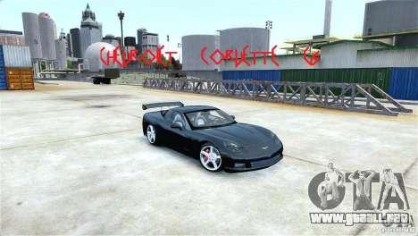 Chevrolet Corvette C6 Convertible v1.0 para GTA 4 vista interior