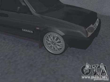 VAZ 2109 sintonizable para GTA San Andreas vista posterior izquierda