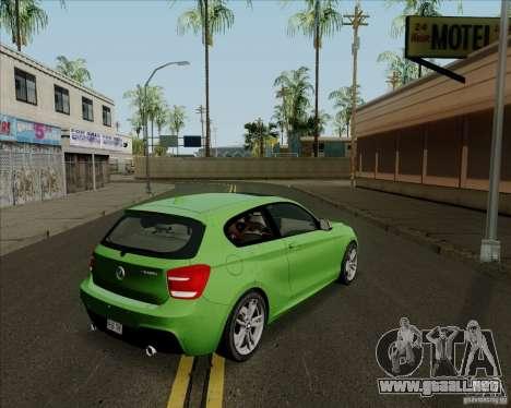 BMW M135i V1.0 2013 para GTA San Andreas vista posterior izquierda