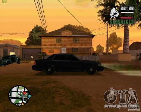 Ford Crown Victoria FBI para GTA San Andreas vista posterior izquierda