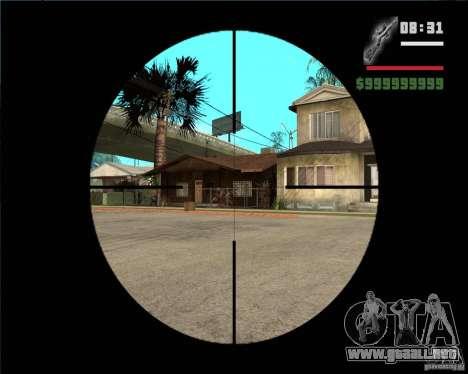 Rifle de francotirador para GTA San Andreas tercera pantalla