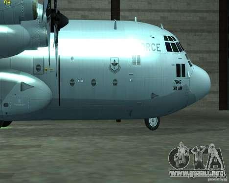 C-130 hercules para GTA San Andreas vista posterior izquierda