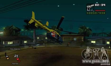 Helitours Maverick de GTA 4 para GTA San Andreas vista hacia atrás
