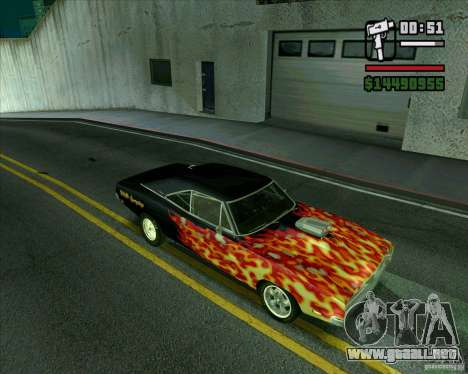 Dodge Charger R/T 69 para la visión correcta GTA San Andreas