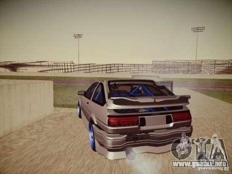 Toyota Corolla AE86 para la vista superior GTA San Andreas