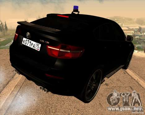 BMW X6 M E71 para GTA San Andreas left