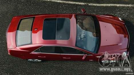 Cadillac CTS-V 2009 para GTA 4 visión correcta