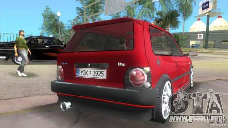 Fiat Uno Turbo para GTA Vice City left