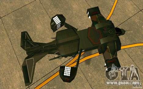 Aliens vs. Predator Marine Drobship para GTA San Andreas vista hacia atrás