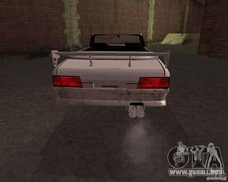 Taxi Cabriolet para GTA San Andreas vista posterior izquierda