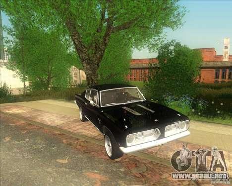 Plymouth Barracuda 1968 para GTA San Andreas vista posterior izquierda