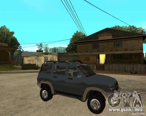 UAZ Patriot 4 x 4 para la visión correcta GTA San Andreas