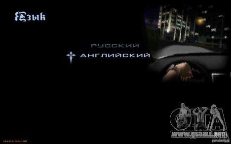 El menú del juego GTA Nogaystan para GTA San Andreas séptima pantalla