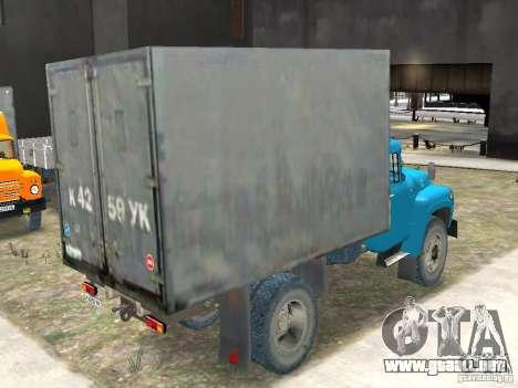 ZIL 130-431410 Final para GTA 4 Vista posterior izquierda