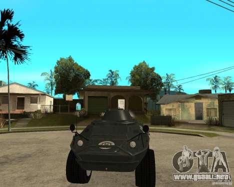 La APC de GTA IV para GTA San Andreas vista hacia atrás