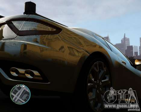 Maserati Grandturismo para GTA 4 vista hacia atrás