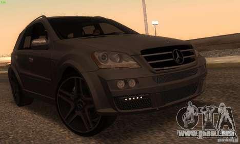 Mercedes-Benz ML63 AMG Brabus para GTA San Andreas left