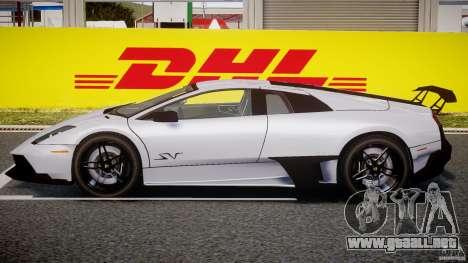 Lamborghini Murcielago LP670-4 SuperVeloce para GTA 4 Vista posterior izquierda