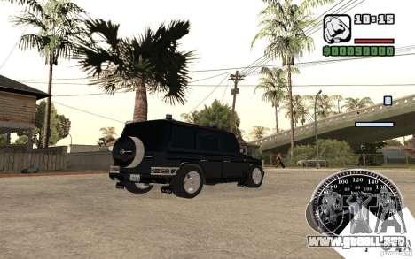 Mercedes-Benz G500 FBI para GTA San Andreas vista posterior izquierda