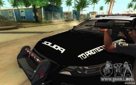Ford Taurus 2011 LAPD Police para GTA San Andreas interior