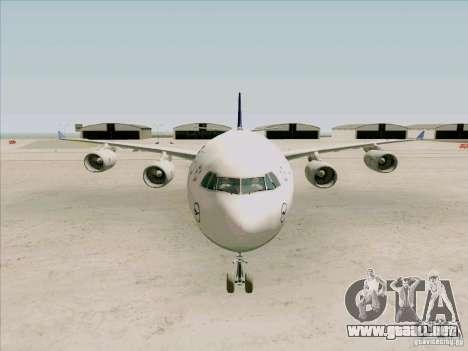 Airbus A-340-600 Lufthansa para visión interna GTA San Andreas