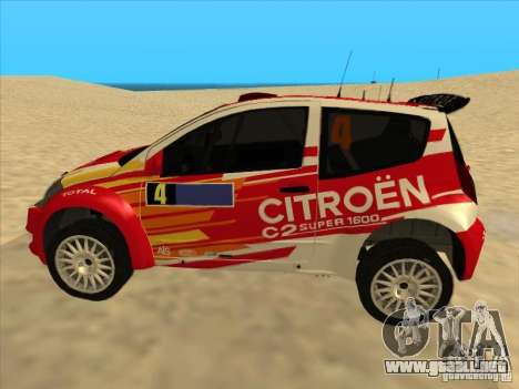 Citroen Rally Car para GTA San Andreas left