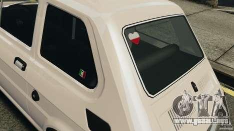 Fiat 126 Classic para GTA 4 vista interior