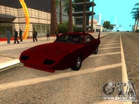 Dodge Charger Daytona Fast & Furious 6 para la visión correcta GTA San Andreas
