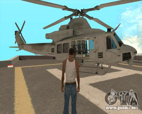 UH-1 Iroquois para vista lateral GTA San Andreas