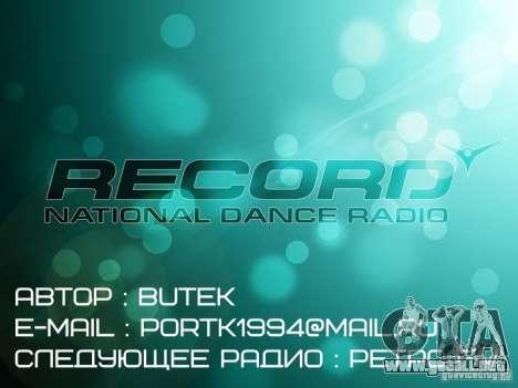 Radio Record by BuTeK para GTA Vice City tercera pantalla