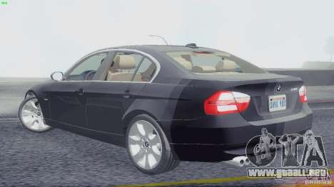 BMW 330i e90 para GTA San Andreas left