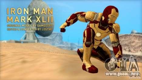 Iron Man Mark 42 para GTA San Andreas