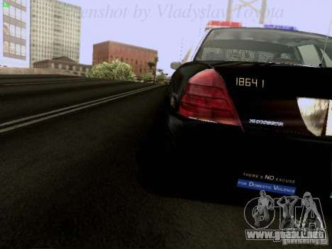 Ford Crown Victoria Los Angeles Police para visión interna GTA San Andreas