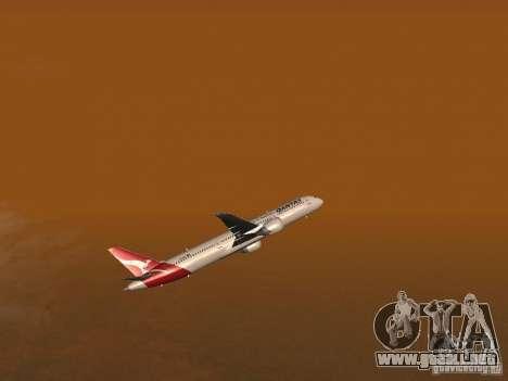 Boeing 787 Dreamliner Qantas para vista lateral GTA San Andreas