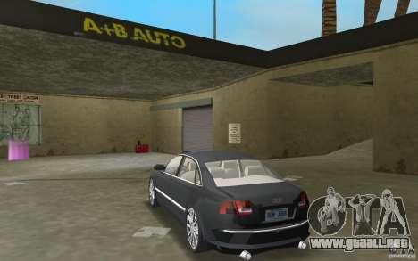 Audi A8 para GTA Vice City visión correcta