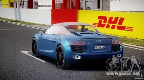 Audi R8 Spyder v2 2010 para GTA 4 vista lateral