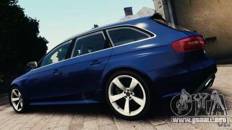 Audi RS4 Avant 2013 v2.0 para GTA 4 left