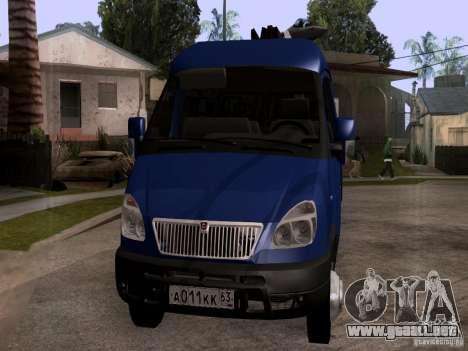Gacela 33023 para GTA San Andreas vista hacia atrás