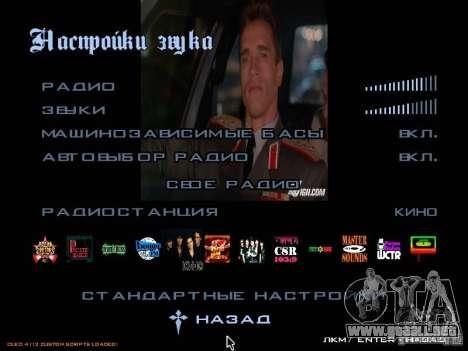 Radio grupo cine para GTA San Andreas tercera pantalla