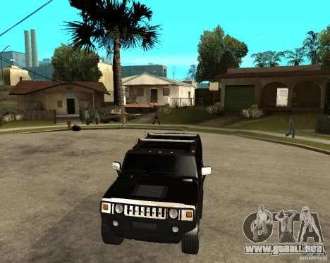AMG H2 HUMMER SUV FBI para GTA San Andreas vista hacia atrás