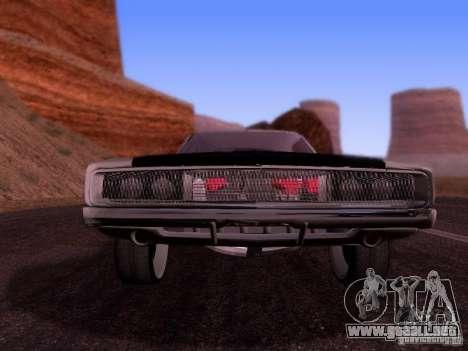Dodge Charger 1970 Fast Five para GTA San Andreas vista posterior izquierda