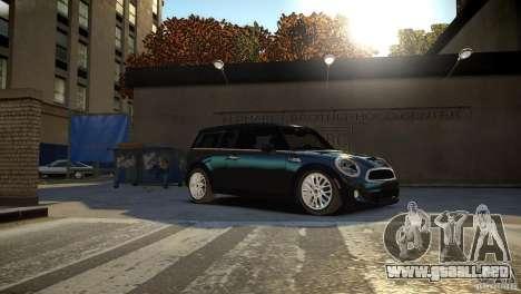 Mini Cooper Clubman para GTA 4 vista hacia atrás
